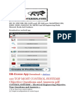 110 TOP MOST CONTROL SYSTEMS Objective Questions and Answers PDF