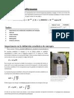 Constante de Boltzmann