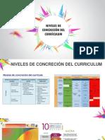 Niveles de Concreción de Curriculum
