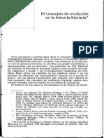 René Wellek El Concepto de Evolución en La Historia Literaria