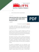 Privatização de Presídios_ o Lucro Que Vem Dos Massacres - Instituto Terra, Trabalho e Cidadania - ITTC (1)