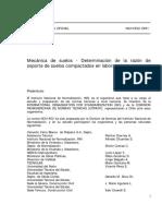 NCh 1852 of.81 - Determinacion de La Razon de Soporte de Sue