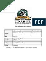Ficha de Identificación de Proyecto