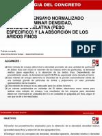 Mendoza t Astm C-128 Densid Af