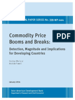 Commodity Price Booms and Breaks