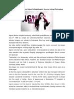 Biografi Agnes Monica Dalam Bahasa Inggris Beserta Artinya Terlengkap
