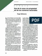 1991 0EC de Los Saltos de La Rana a La Propiedad de La Densidad