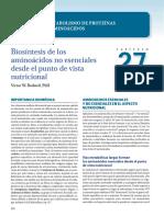 Harper. Capítulo 27. Biosíntesis de Aminoácidos No Esenciales Para La Nutrición
