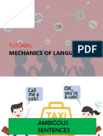 Mechanics of Language