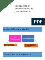 1.1Introduction of Biopharmaceutics Pharmacokinetics