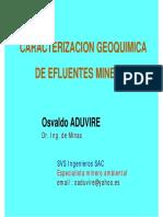 5A Geoquimica de Efluentes Mineros
