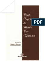 Canti Popolari Monte San Giacomo