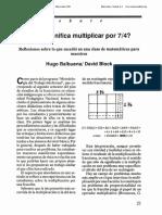 1991 0EC Qué Significa Multiplicar Por 7 Cuartos