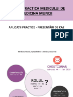 SASO in practica medicului de medicina muncii - Aplicatii practice