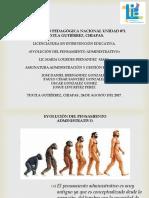 DIAPOSITIVAS DEL EQUIPO 4 EVOLUCIÓN DEL PENSAMIENTO ADMINISTRATIVO (1).pptx