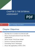 CHAPTER 2 the External Assessment