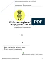 What is Monetary Policy in India_ Objectives and Instruments - 1IAS