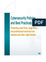 Cybersecurity Policy Small Firms