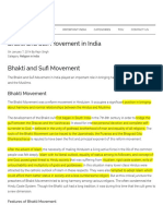 5. 1. Bhakti and Sufi Movement in India - Important India