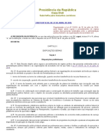 Decreto Federal Nº 8726 Regulamenta Lei 13019