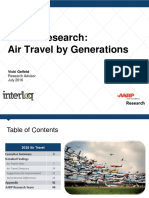 Air Travel by Generations Res Life