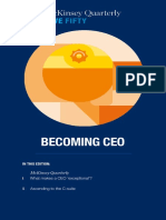 McKinsey Quarterly Five Fifty Becoming CEO
