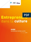 Entreprendre Culture Auvergne Rhone Alpes Guide 2017
