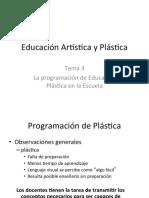 EP T3 (La Programación de EP en La Escuela)