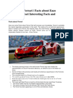 Facts about Ferrari | Facts about Enzo Ferrari | Ferrari Interesting Facts and History