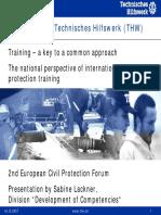 Technisches Hilfswerk (THW) - The German civil protection system