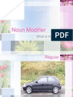 Noun Modifier