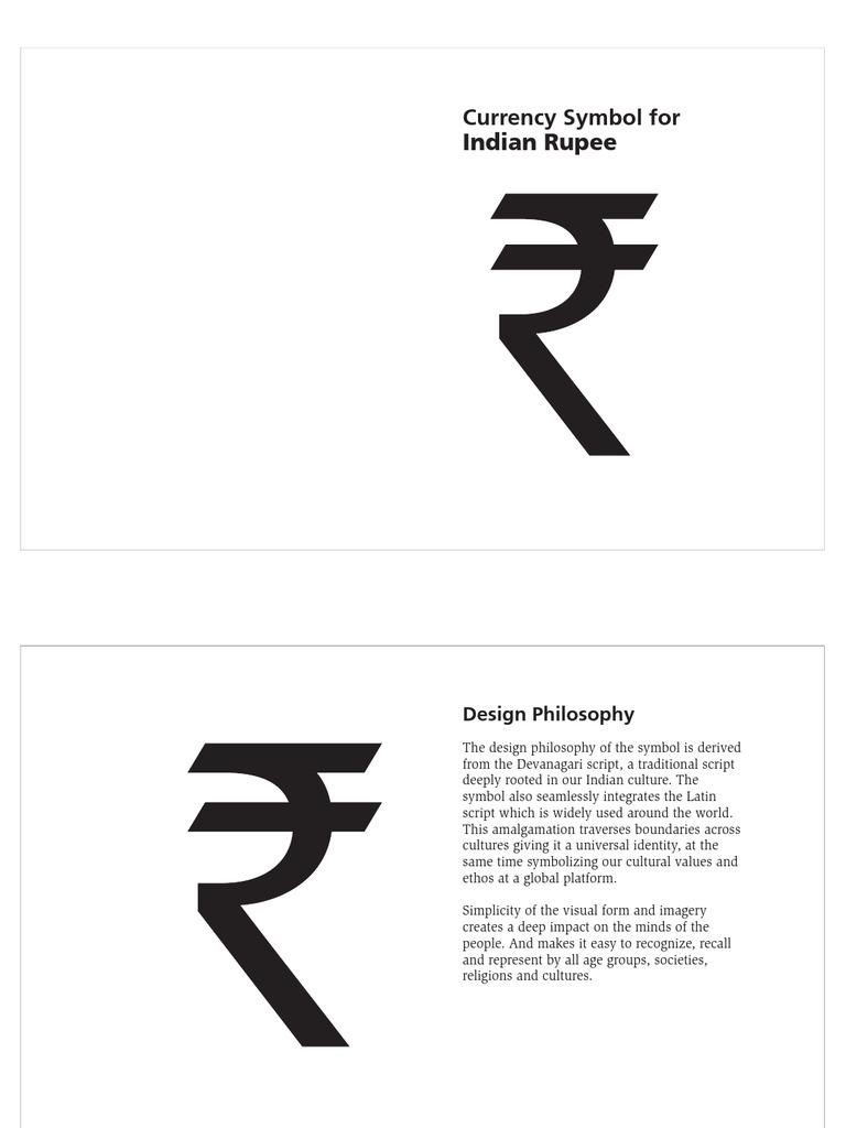 Indian Rupee Symbol Presentation Rupee Symbols