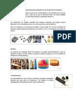 Tipos de Conductores y Semiconductores Utilizados en Los Circuitos de Los Vehículos