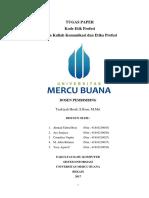 Paper Kode Etik Kelompok 3