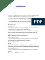 Struktur Kalimat Bahasa Indonesia