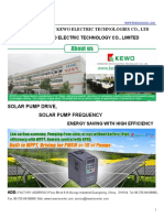 Kewo Solar Pump Drive Catalog