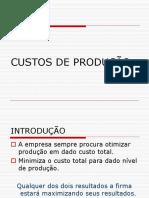 Economia - Custos de Produção