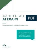 2015-09-18 Avoid Pitfalls at Exams