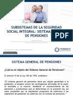 3 Subsistemas Del Sssi Sistema General de Pensiones Nuevo