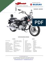 Biker House Cotizacion Suzuki Gz150 A