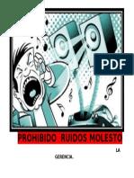 Prohibido Ruidos Molesto