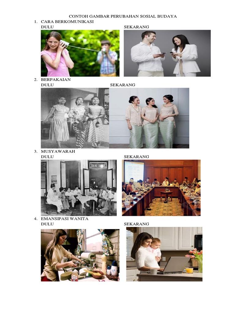Contoh Gambar Perubahan Sosial Budaya Docx