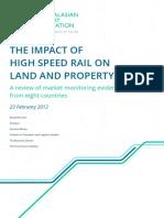 Impact High Speed Rail Land Property Values FINAL Feb2012 1