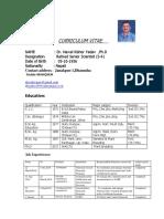 CV  of  Dr.NK Yadav_