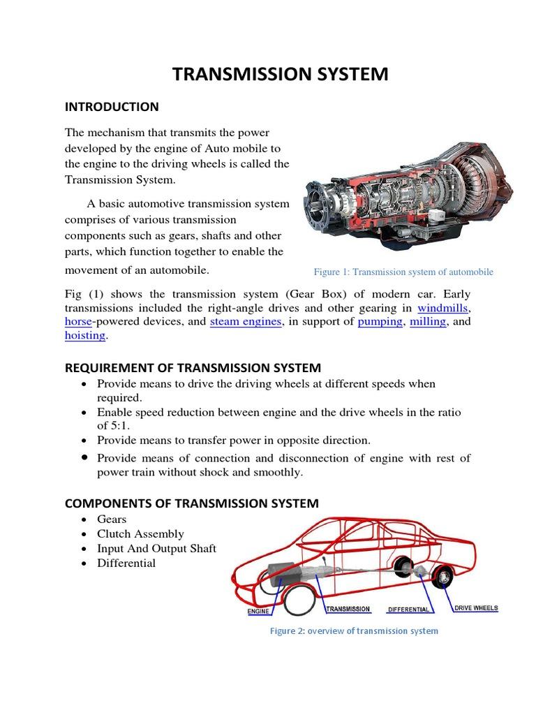 Upload Docx Transmission Mechanics Automatic Transmission
