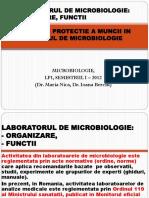 1) Laboratorul de Microbiologie