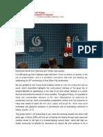 Keynote Address by Laki Vingas - Yunus Emre Enstitusu - Turkisches Kulturzentrum Koln, 24112017