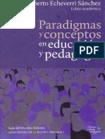 Paradigmas y conceptos en educación y pedagogía