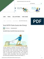Soal HOTS Fisika Usaha Dan Energi - SOAL HOTS