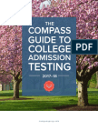 Compass Guide to Admission Testing 2017-2018